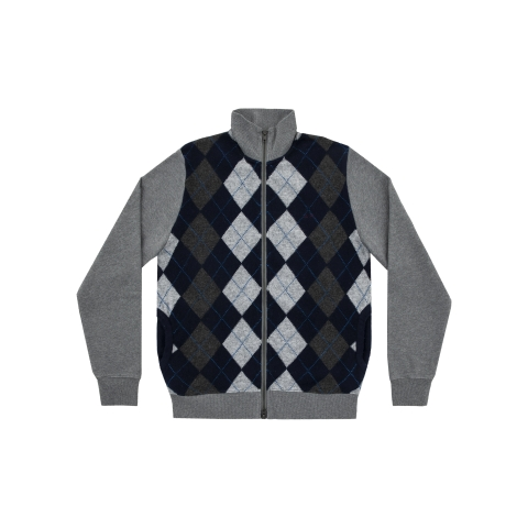 Full Zip Cotton Fl & Knit