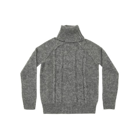 Wool Turtle Cable grigio